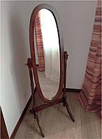 Зеркало напольное в деревянной раме W-13 (MS-8007 С), цвет орех