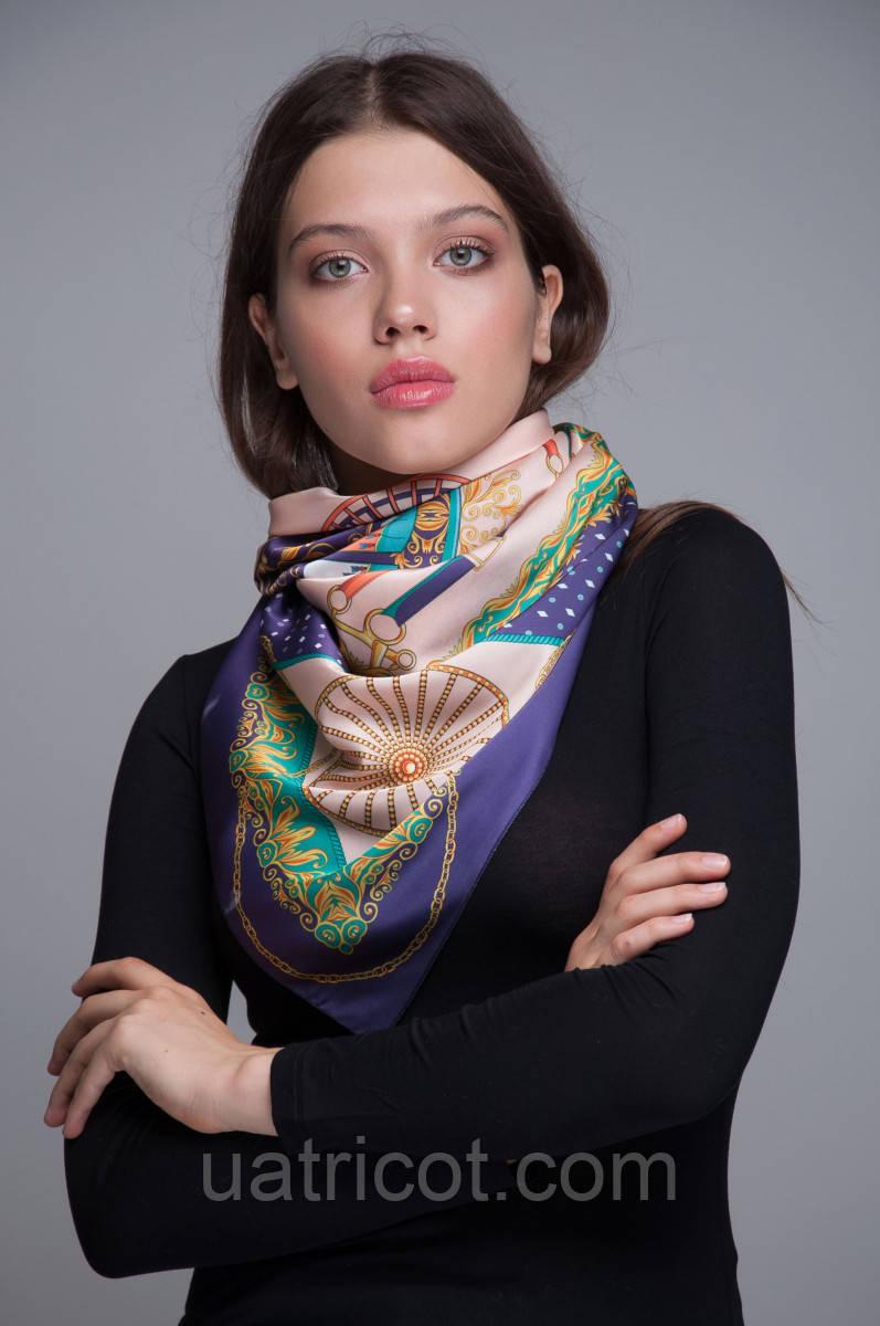 Платок-каре KIFA принт Сab Dark purple