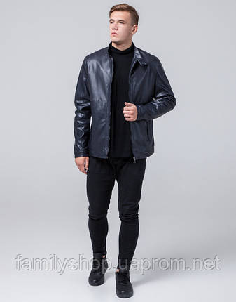 Braggart Youth   Куртка экокожа 2193 темно-синий, фото 2