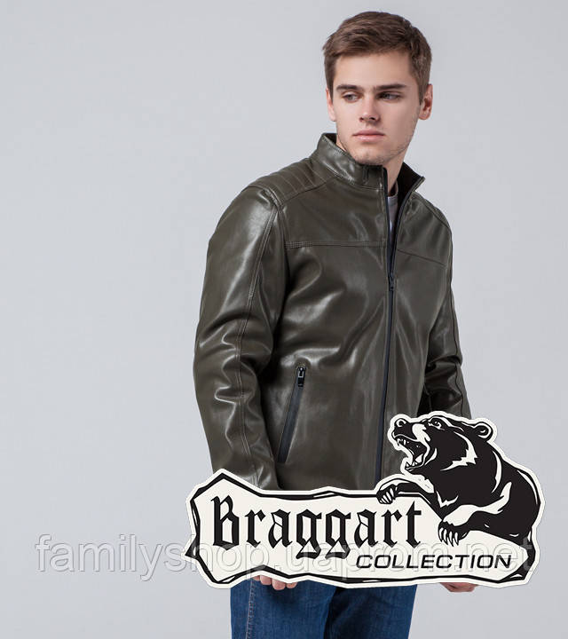 Braggart Youth | Куртка экокожа 4834 хаки
