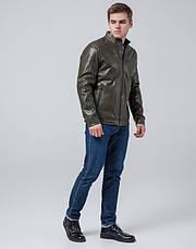 Braggart Youth | Куртка экокожа 4834 хаки, фото 2