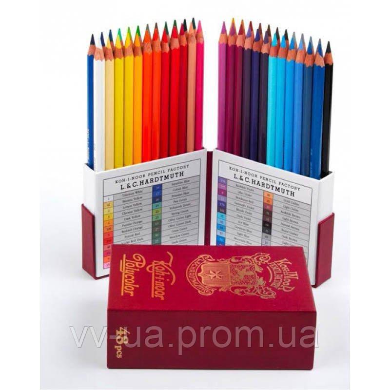 Карандаши художественные Koh-i-Noor POLYCOLOR RETRO, набор, 48 цв. (3826048020TK)