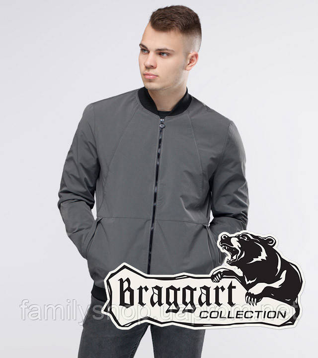 Braggart Youth | Бомбер осенний 43755 серый