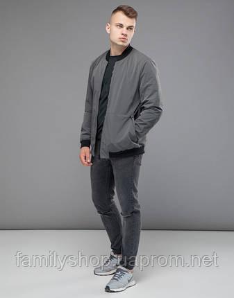 Braggart Youth | Бомбер осенний 43755 серый, фото 2