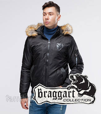 Braggart Youth | Бомбер осенний 50145 черный, фото 2
