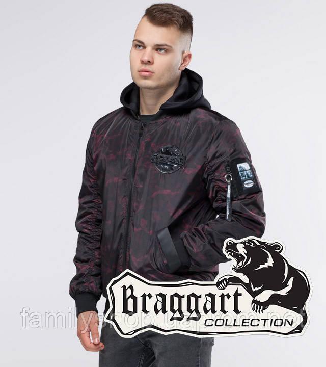 Braggart Youth | Осенняя куртка 30155 черный-красный