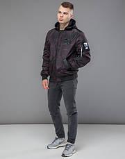 Braggart Youth | Осенняя куртка 30155 черный-красный, фото 2