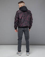 Braggart Youth | Осенняя куртка 30155 черный-красный, фото 3