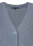 Жіночий Кардиган Terema Zaps блакитного кольору, великої в'язки, фото 3