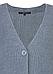 Кардиган Terema Zaps голубого цвета, крупной вязки, фото 3