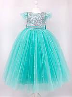 Детское бальное платье для девочек с перьем