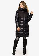 Теплий зимовий жіночий пуховик з капюшоном Peercat синій 6019, фото 1