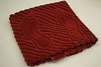 Махровое полотенце Mahrof Store для ног 50х70см кирпичное