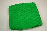 Махровое полотенце для ног Mahrof Store 50х70см зеленое