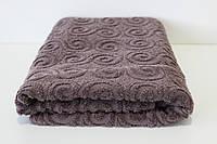 Полотенце махровое банное Mahrof Store  70х140см серое