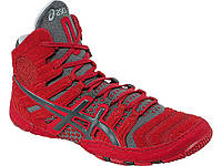 БОРЦОВКИ ASICS DAN GABLE ULTIMATE 4 RED/GUNMETAL/SILVER, фото 1