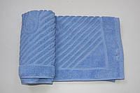 Махровое полотенце Mahrof Store для ног 50х70 см голубое