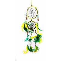Амулет Ловец снов цветной с ракушками (d-6 см)