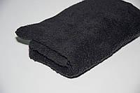 Махровое лицевое полотенце Mahrof Store 50х90 см черное