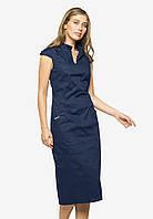 Элегантное деловое платье-футляр длины миди Modniy Oazis синий 90386, фото 1