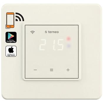 Wi-Fi терморегулятор Terneo sx с сенсорным управлением врезной в подрозетник для систем отопления