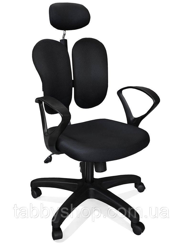 Кресло Mealux Deluxe-Duo Plus (обивка черная однотонная)