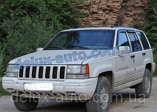 Ветровики Cobra Tuning на авто Jeep Grand Cherokee I (ZJ) 1991-1999 Дефлекторы окон Кобра Джип Гранд Черокки