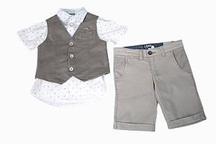 Детский нарядный жилет для мальчика SARABANDA Италия 0 Q180 / 00 Бежевый