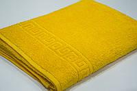 Махровое пляжное полотенце Mahrof Store 100х180 см желтое
