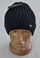 М 6125 Шапка чоловіча зимова, акрил, фліс, розмір вільний, фото 1