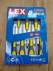 Набор отверток LEX 8SZT : 3 плоских | 3 отвертки Phillips | 2 отвертки Phillips  PZ