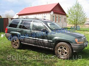 Ветровики Cobra Tuning на авто Jeep Grand Cherokee II (WJ) 1999-2004 Дефлекторы окон Кобра Джип Гранд Черокки