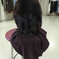 Норковий платок коричневий
