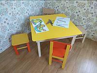 Стіл дитячий квадратний 75х75x50