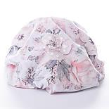 """Ткань муслин """"Дикие розы"""" пудровые на белом, ширина 160 см, фото 3"""