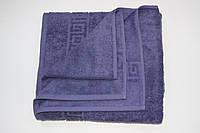 Махровое пляжное полотенце Mahrof Store 100х150 см темно серое
