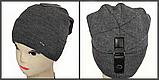 М 5071 Шапка чоловіча кнопка, акрил, фліс, розмір вільний, фото 3