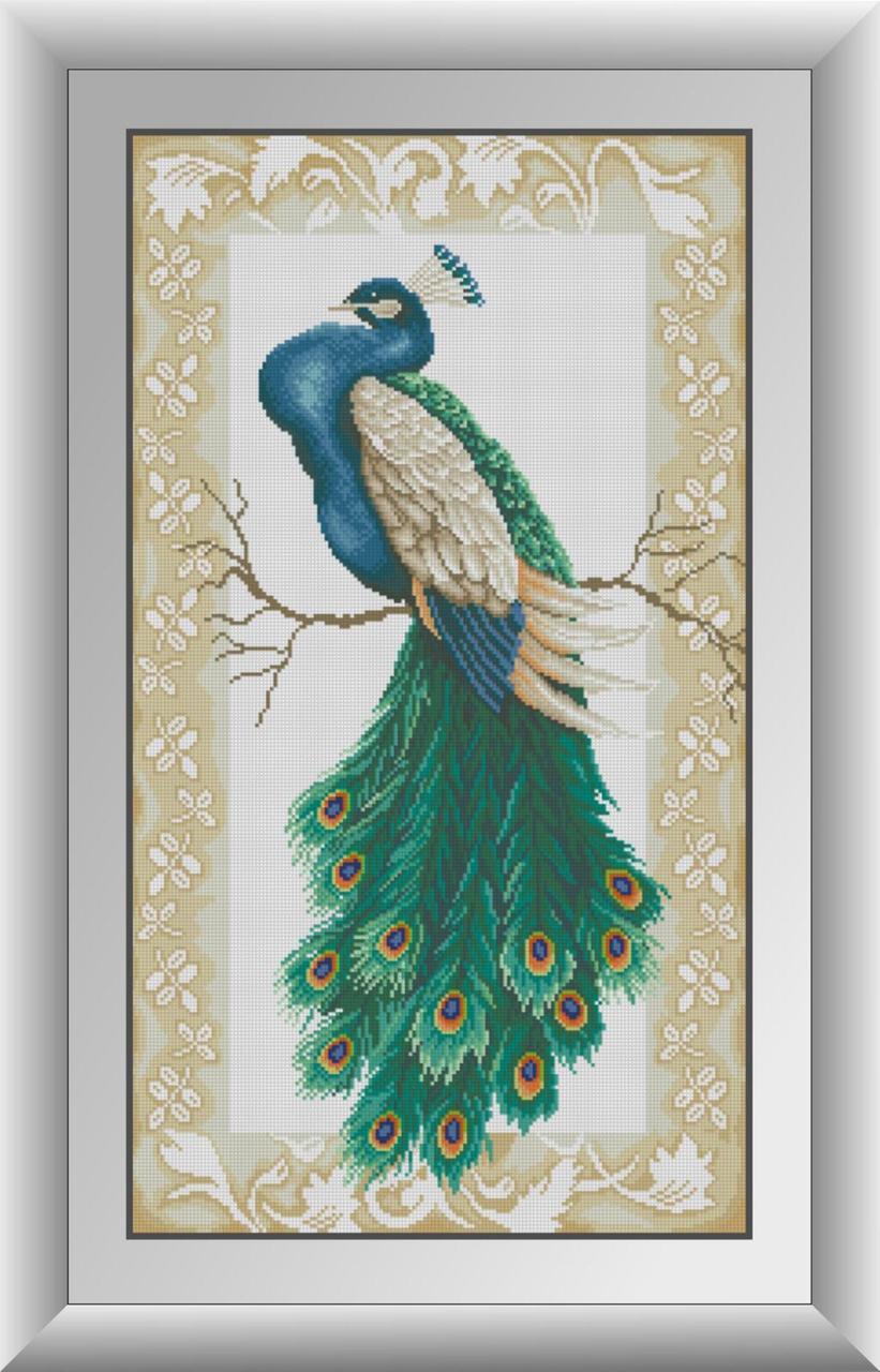 Алмазная живопись Царский павлин Dream Art 30867 (42 x 75 см)