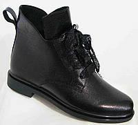 Ботинки демисезонные из натуральной кожи большого размера от производителя модель В5302-12