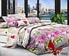 Комплект постельного белья семейный с 2-мя пододеяльниками Поликоттон TAG XHY1945