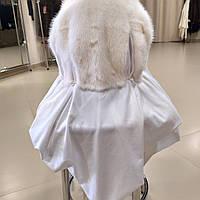 Білий норковий платок