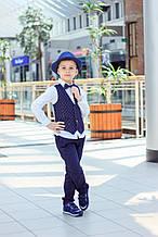 Детские брюки для мальчика MEK Италия 191MHBH002 темно-синий 128