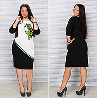 Привлекательное платье с нашивкой большого размера