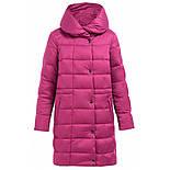 Женский зимний пуховик Finn Flare W17-11007-806 длинный темно-розовый, фото 7