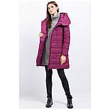 Женский зимний пуховик Finn Flare W17-11007-806 длинный темно-розовый, фото 3