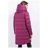 Женский зимний пуховик Finn Flare W17-11007-806 длинный темно-розовый, фото 4