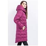 Женский зимний пуховик Finn Flare W17-11007-806 длинный темно-розовый, фото 2