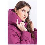 Женский зимний пуховик Finn Flare W17-11007-806 длинный темно-розовый, фото 5