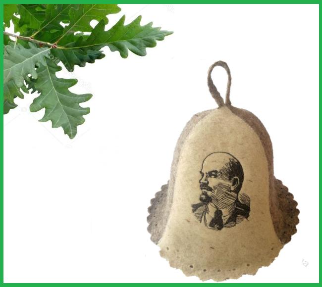 """Шапка для бани и сауны """"Ленин"""""""