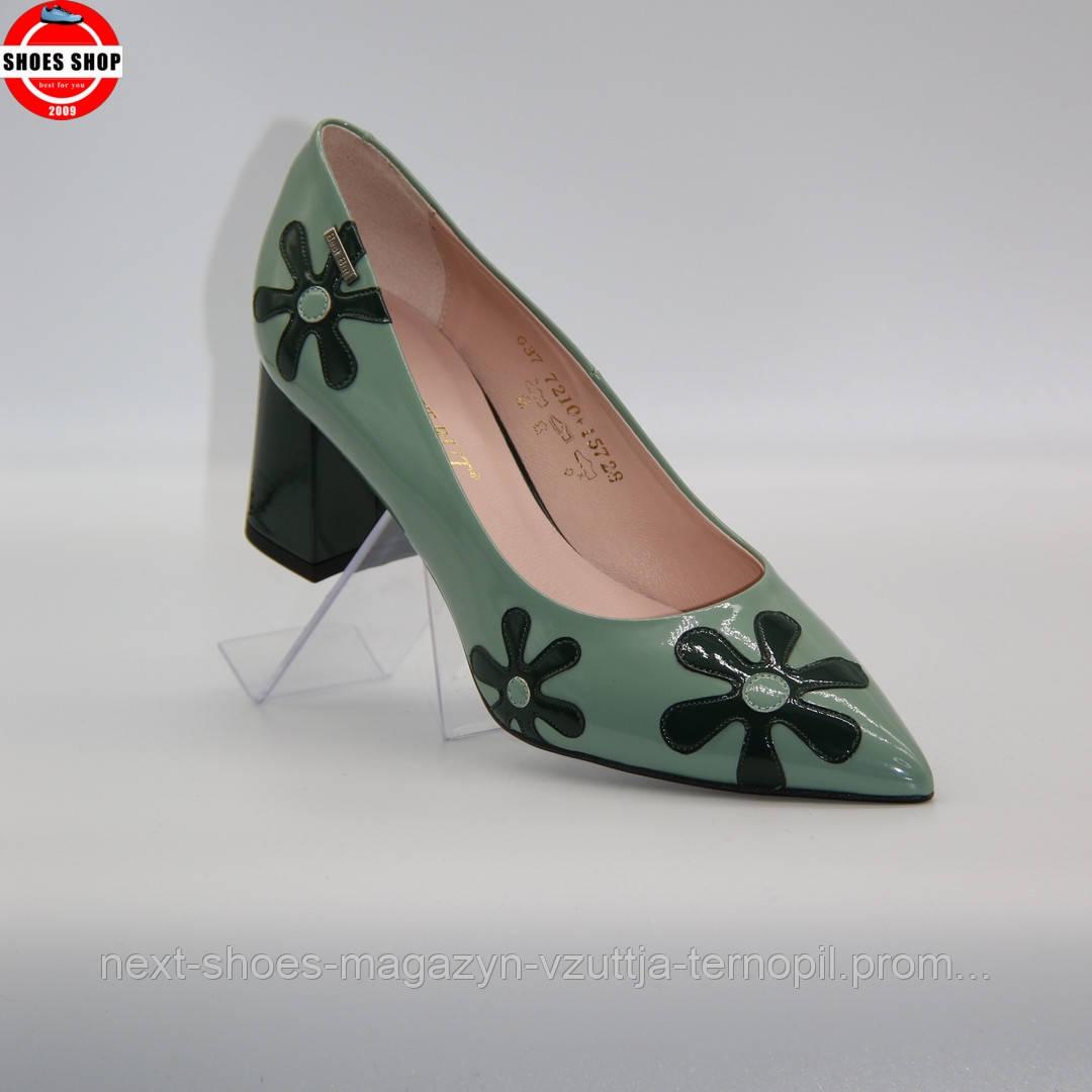 Жіночі туфлі BEST BUT (Польща) бірюзового кольору. Дуже красиві та зручні. Стиль: Уна Чаплин